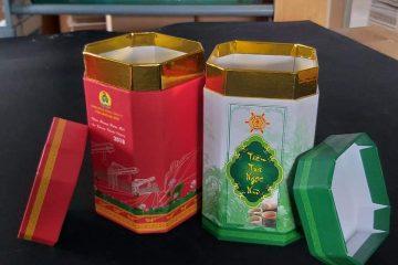 Hộp trà bát giác